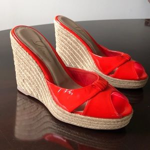 Delman pumpkin color 9.5M Slip On Size 9.5M Wedges